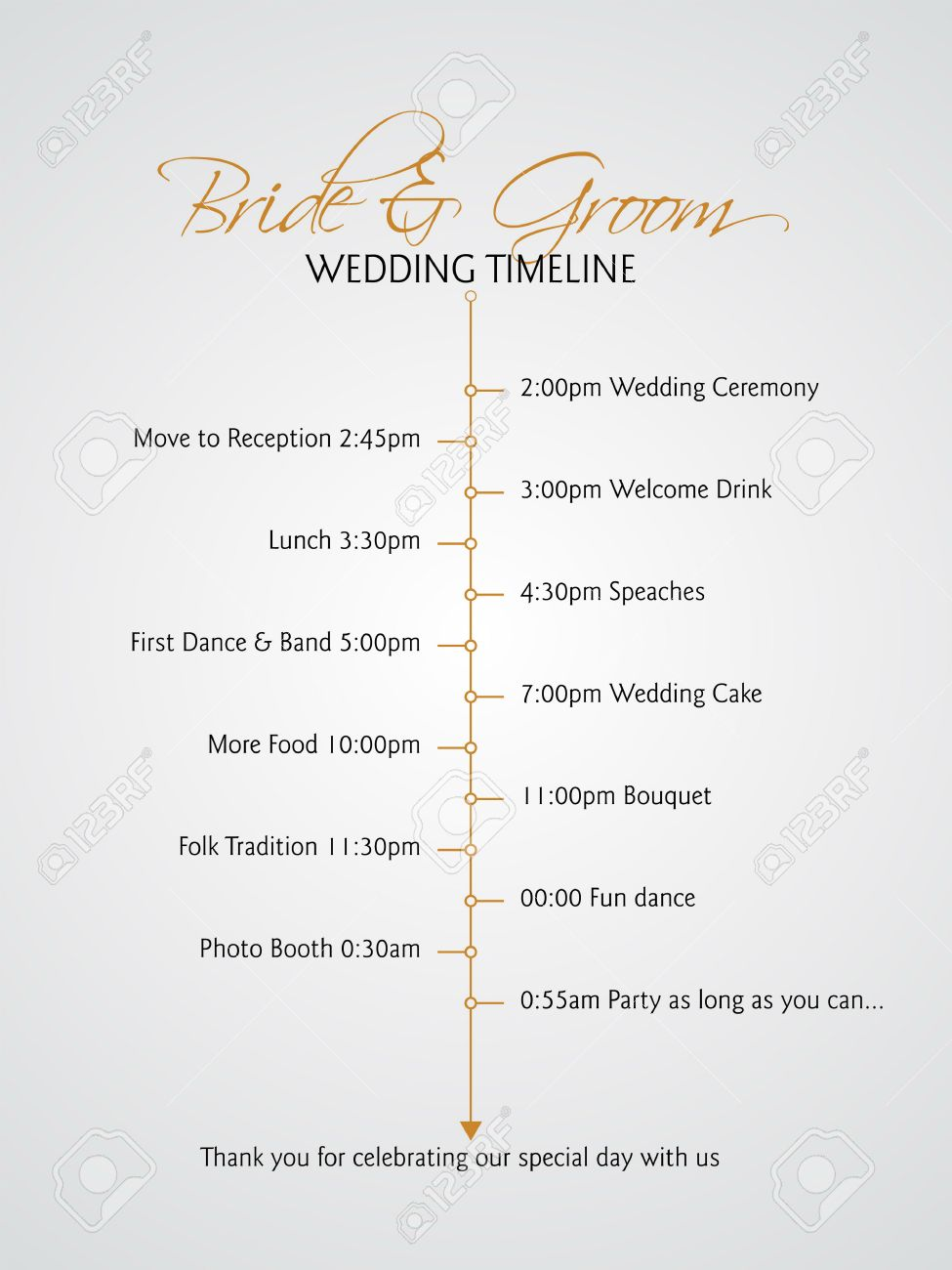 Simple Infographics Style Wedding Timeline Royalty Free Cliparts ...