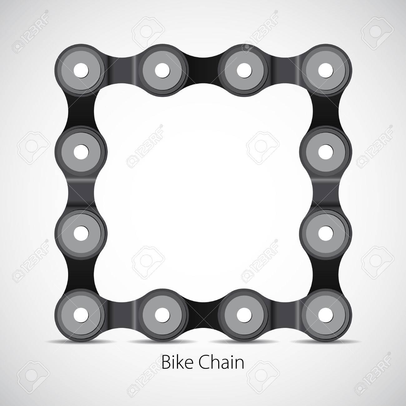 Bicycle Chain, Bike Box Frame, Vector Card Symbol Royalty Free ...