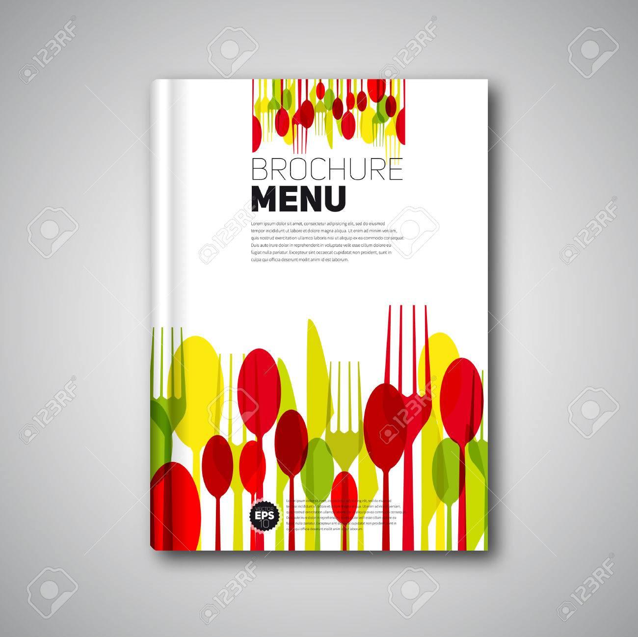 Restaurant Menu Card Design Template, Brochure Book Cover Design ...