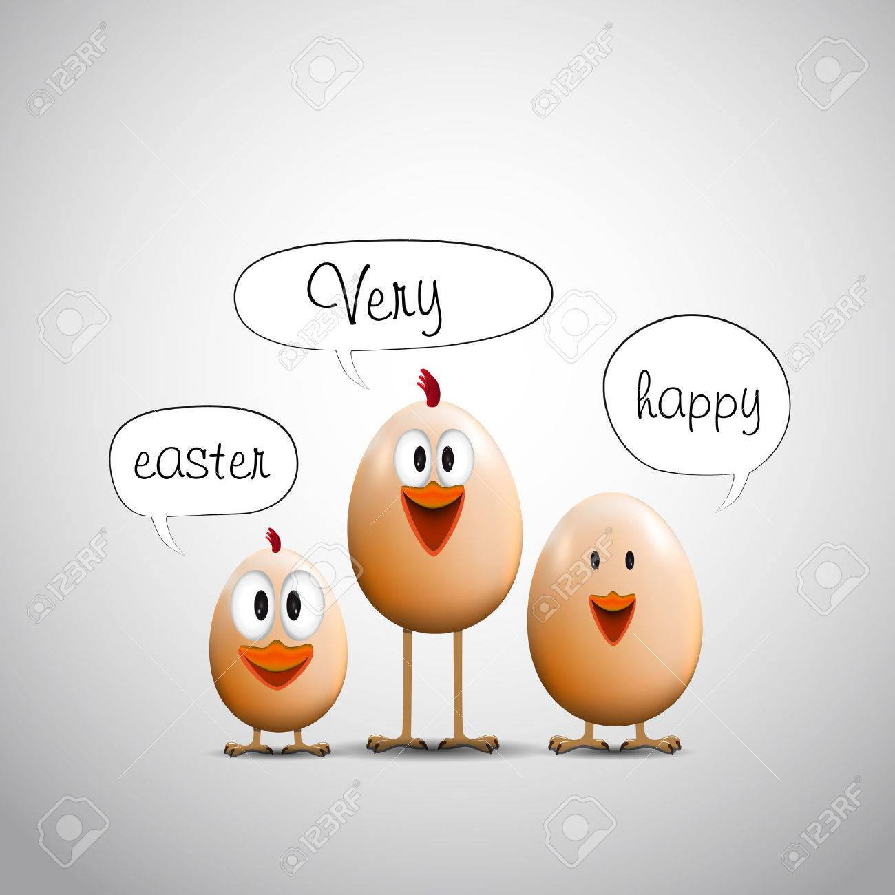 Funny easter eggs chicks happy easter card royalty free cliparts funny easter eggs chicks happy easter card stock vector 36618046 kristyandbryce Choice Image