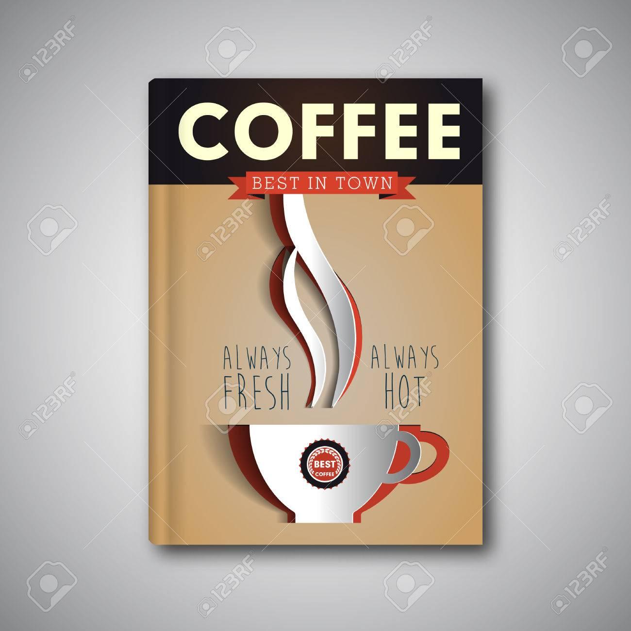 Plantilla De Volante De Café, Folleto, Portada De Revista ...