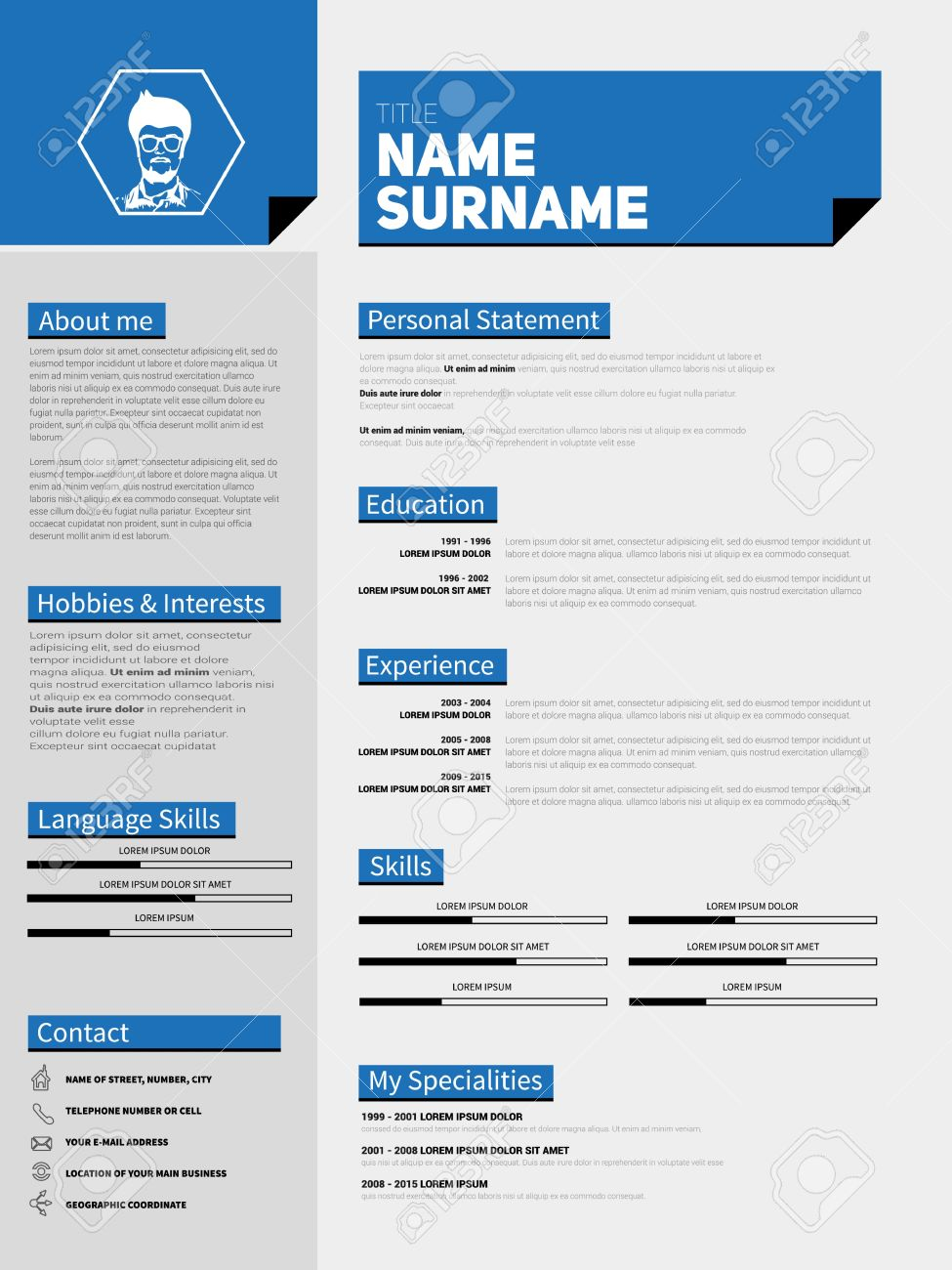 personal objective examplesthe best cv u0026 resume templates 50 mini st cv resume template simple design royalty resume template