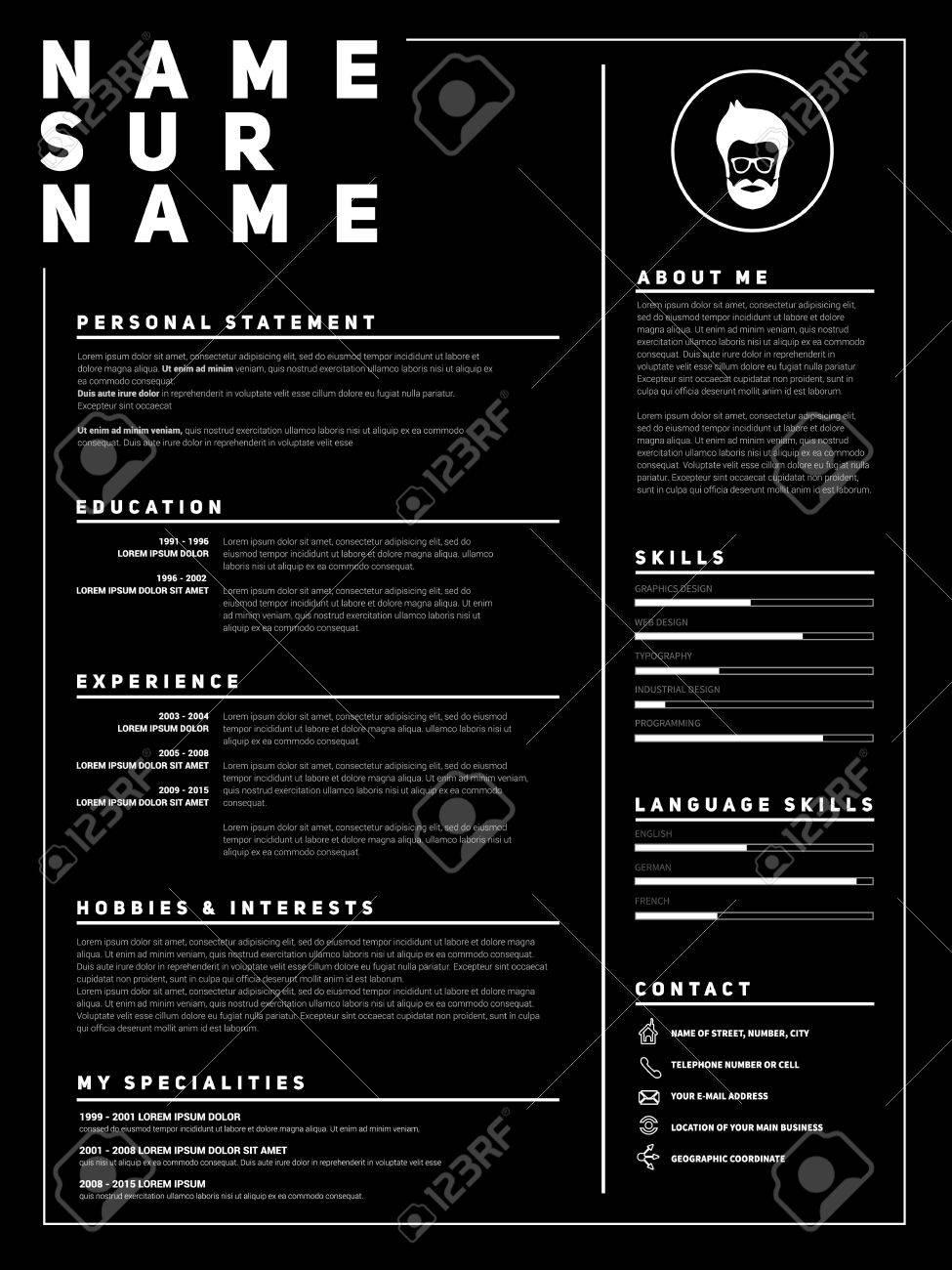 resume minimalist cv template with simple design company application cv curriculum vitae - Ce Resume