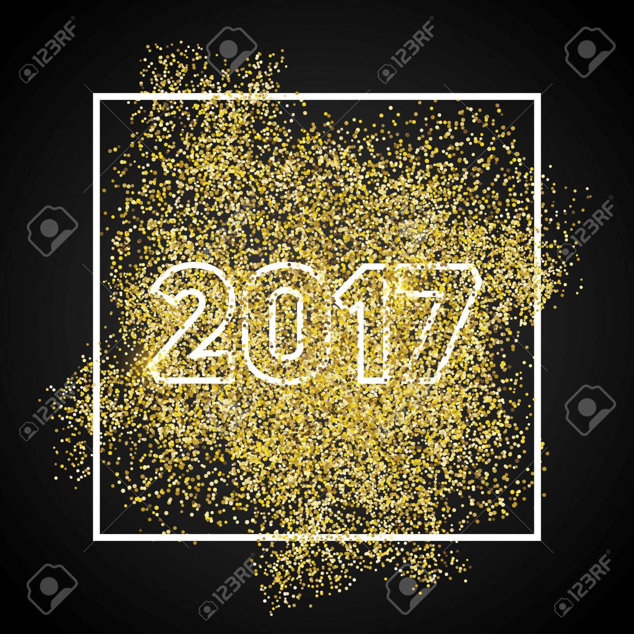 happy new year 2017 gold glitter new year gold background for flyer banner