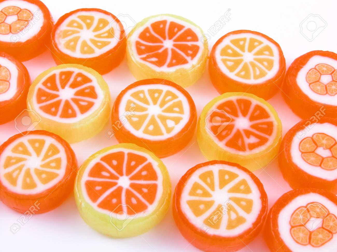sweet candy background on white background - close-ups Stock Photo - 471499