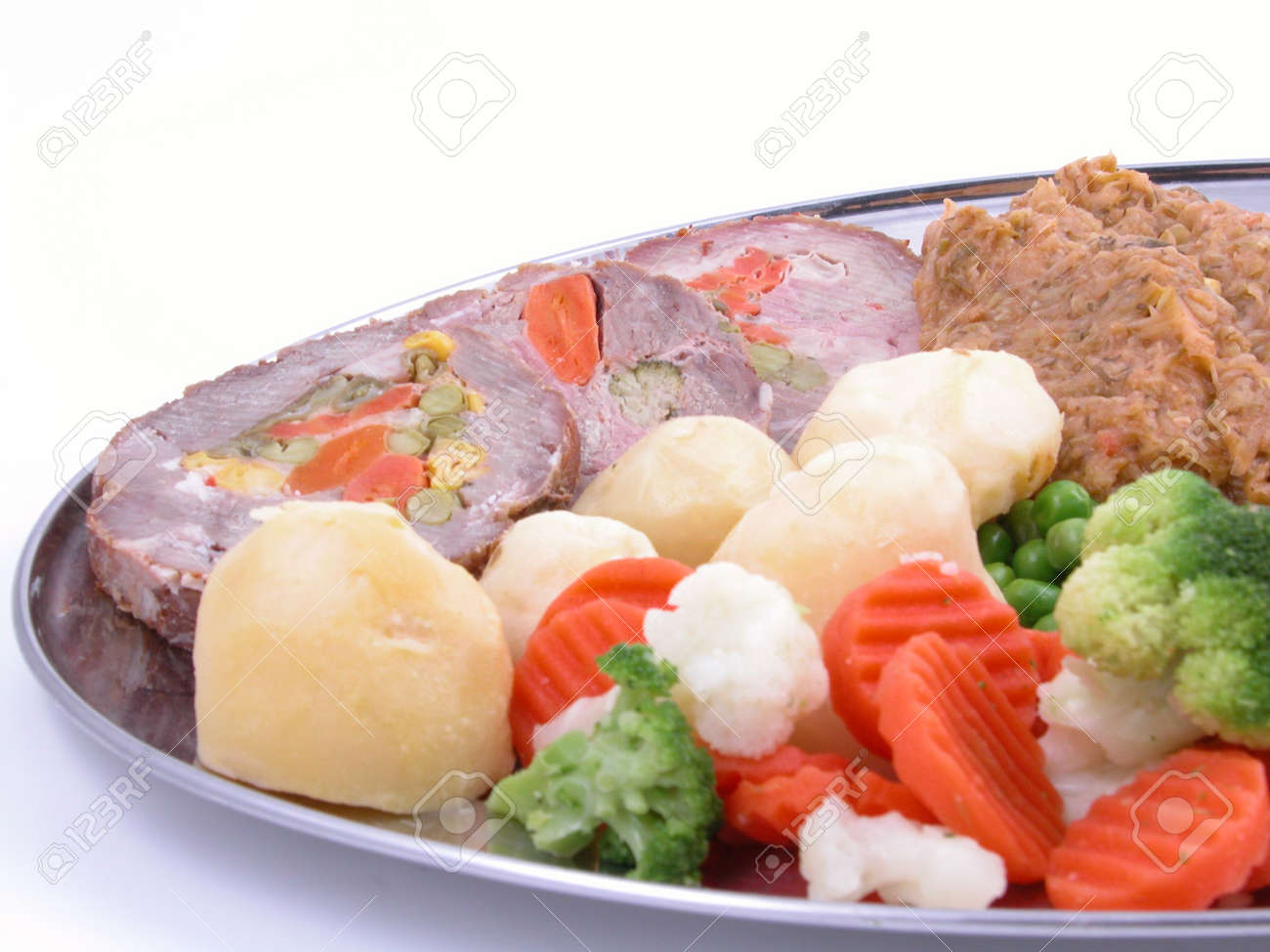 plate full of cooked vegetables and meat Stock Photo - 518873