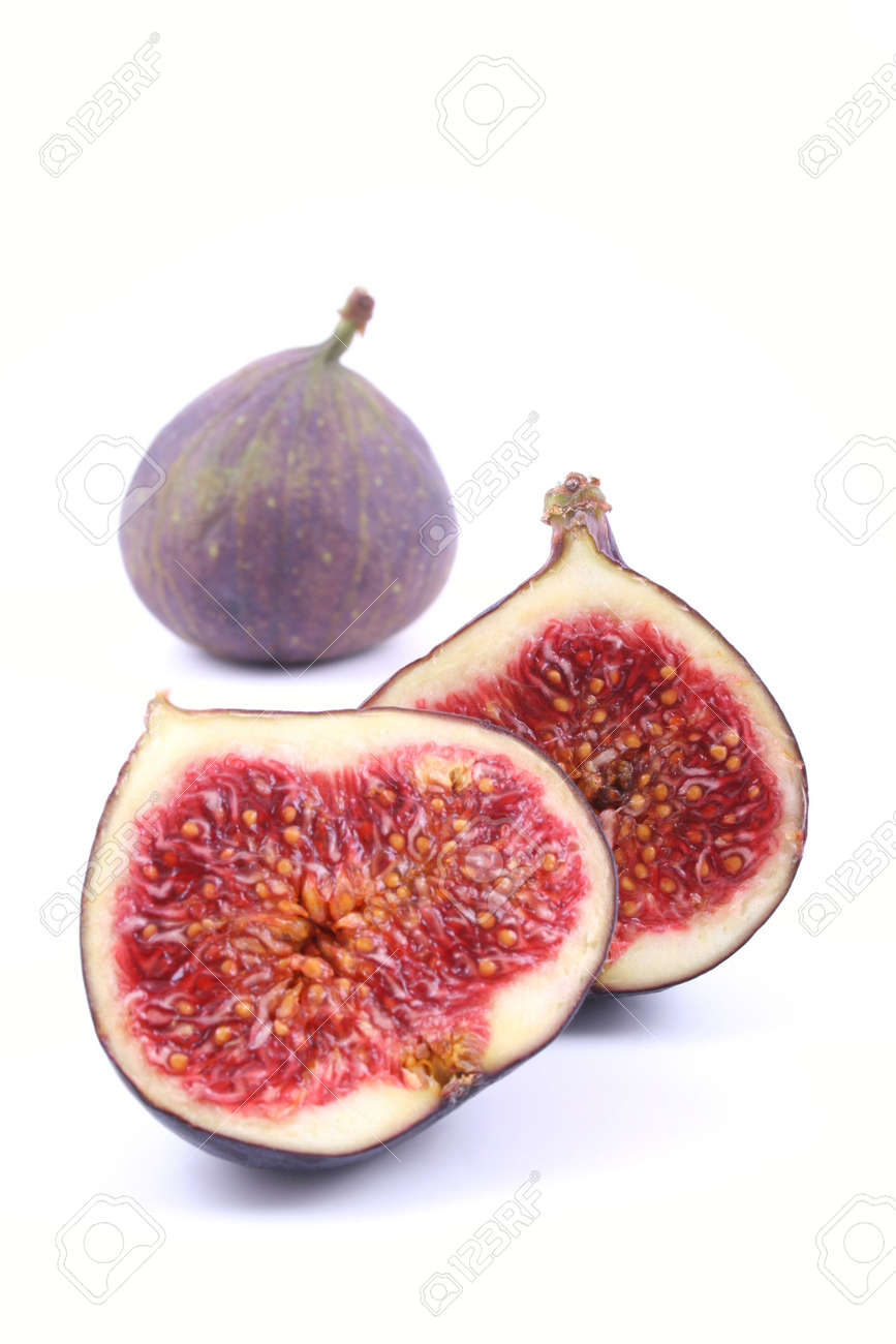 fresh figs isolated on white Stock Photo - 549748