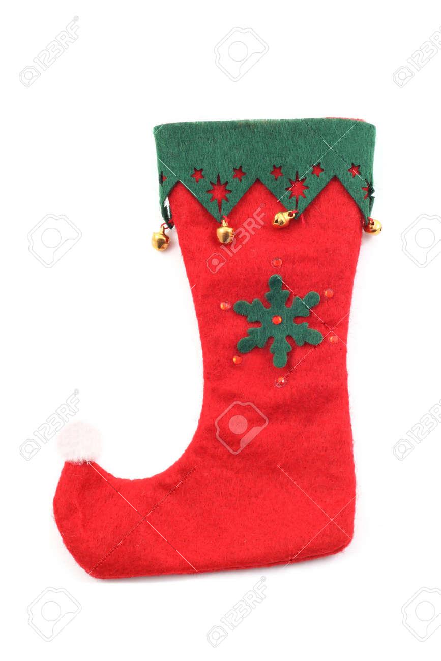 Red Weihnachten Schuh Isoliert Auf Weiß Lizenzfreie Fotos, Bilder ...