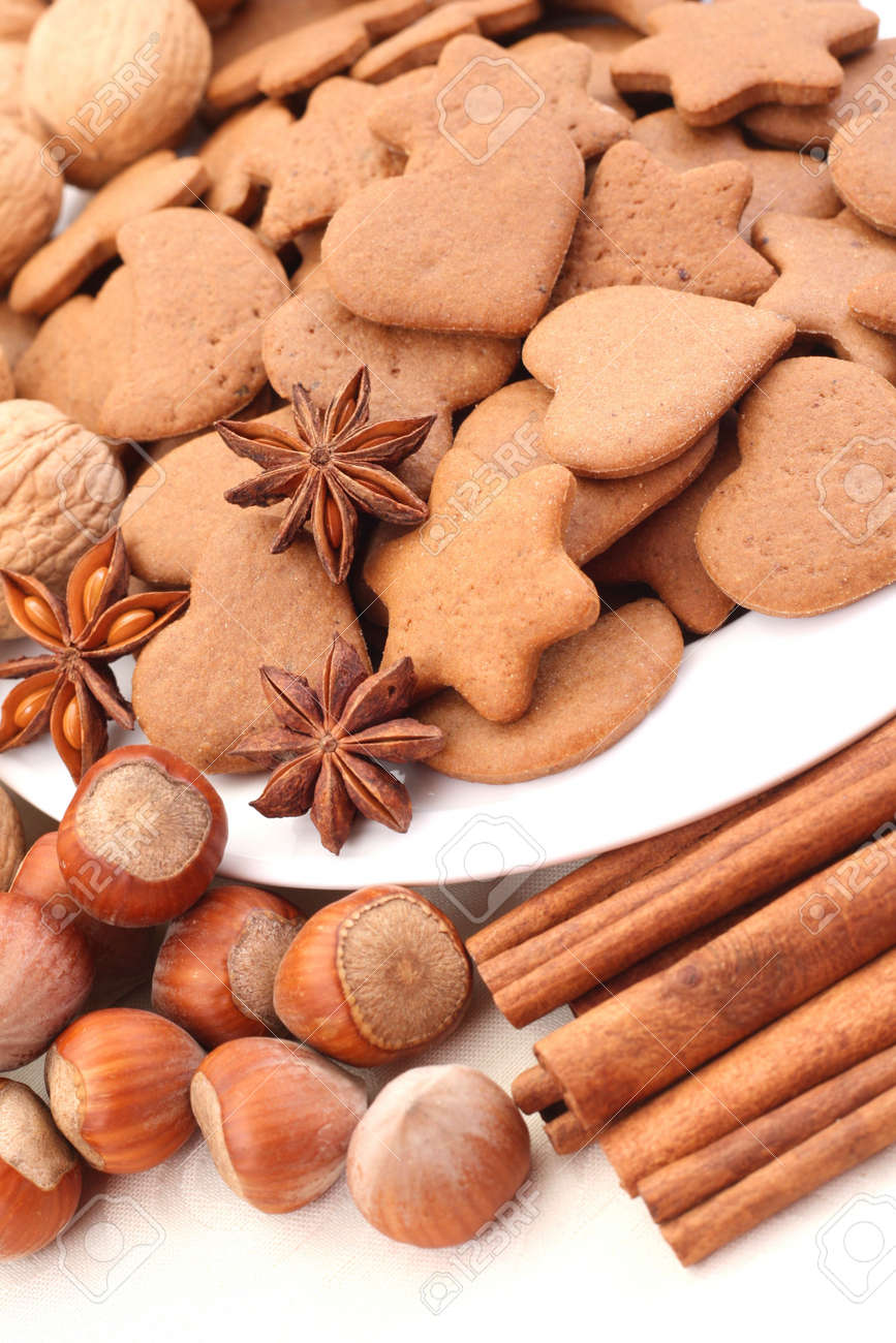 plate full of delicious gingerbreads Stock Photo - 2170655