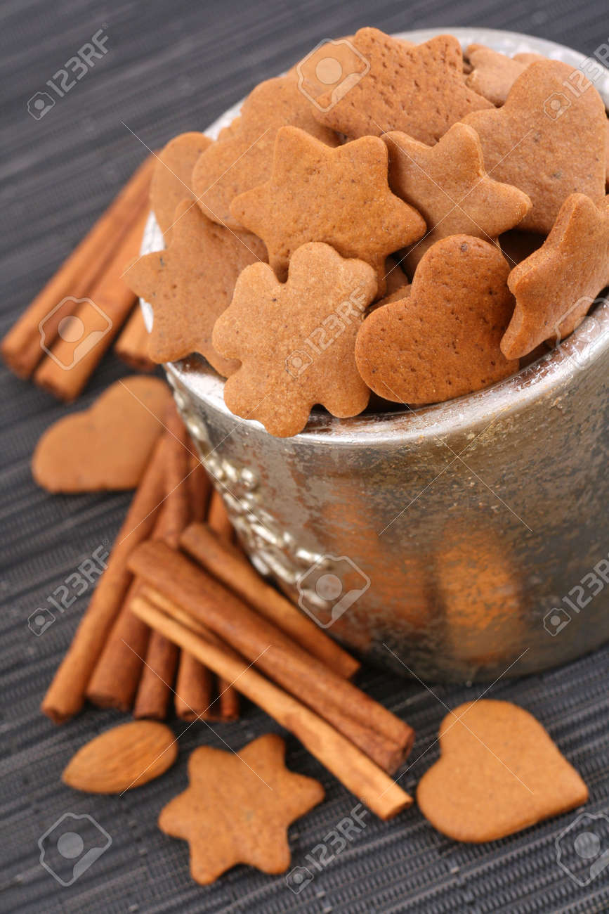 bowl of delicious cookies and some sweetmeats Stock Photo - 2247635