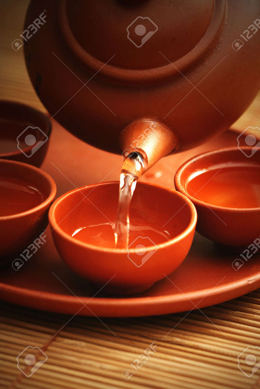 Chinese tea service - food and drink Stock Photo - 5354553