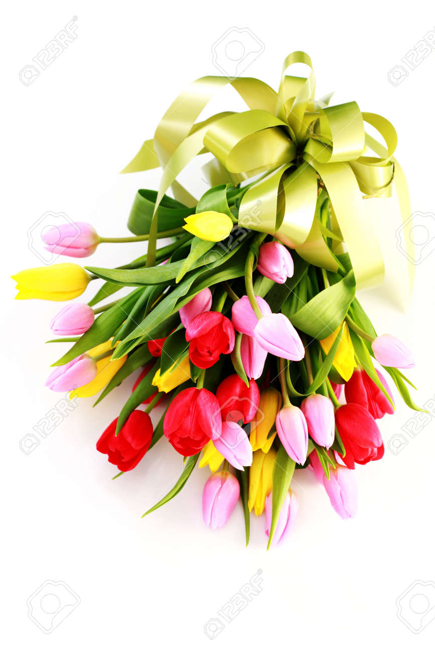 Bouquet of lovely tulips on white background flowers stock photo bouquet of lovely tulips on white background flowers stock photo 6803208 dhlflorist Image collections