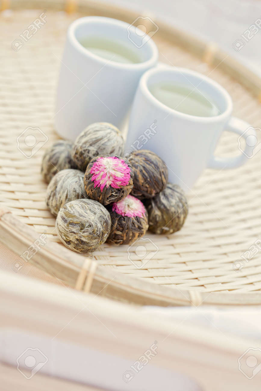 cup of healthy green tea - tea time Stock Photo - 8684867