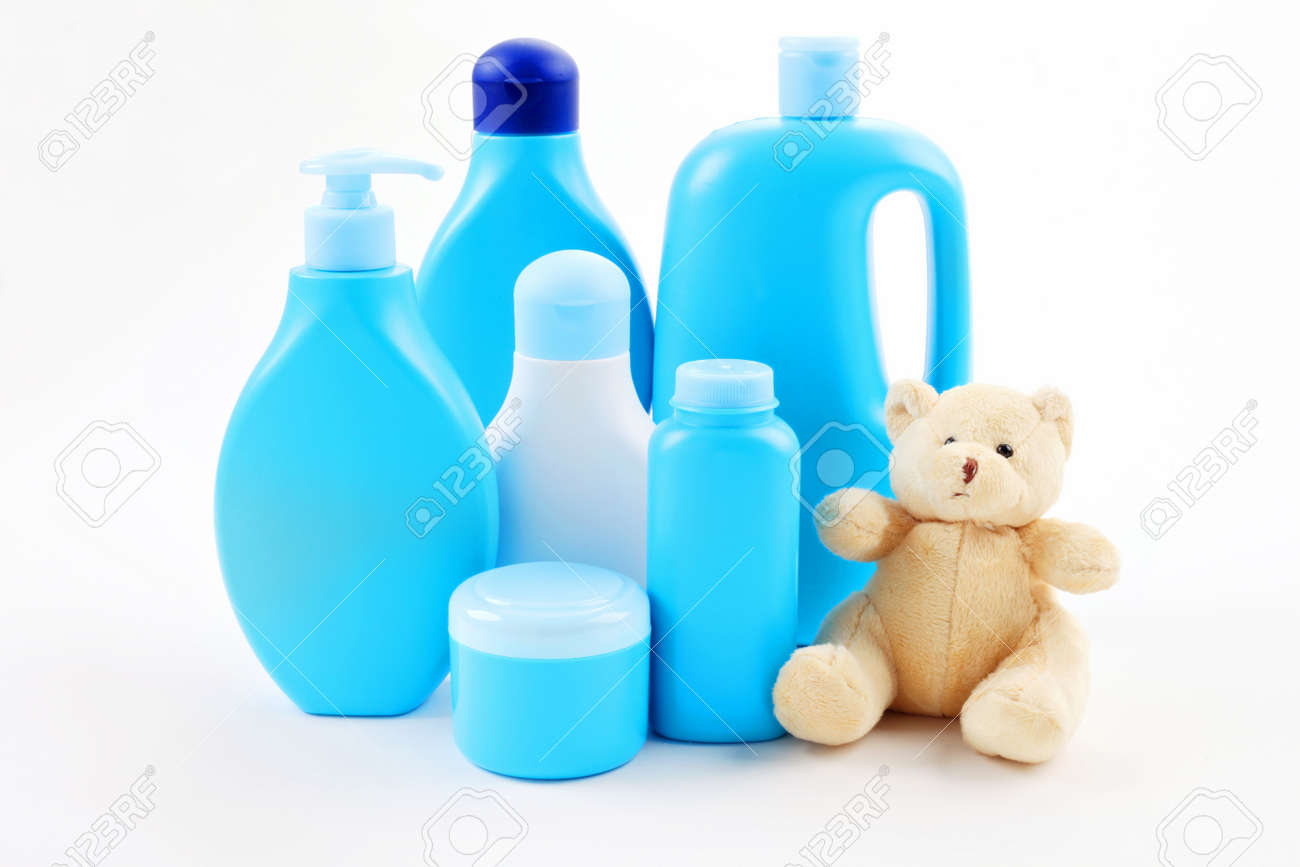 Accessori Bagno Per Bambini.Immagini Stock Tutto Il Necessario Per Il Bagno Bambino