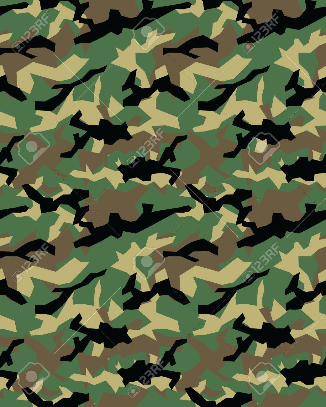 Fashionable camouflage pattern, military print .Seamless illustration, wallpaper Stock Vector - 69223683