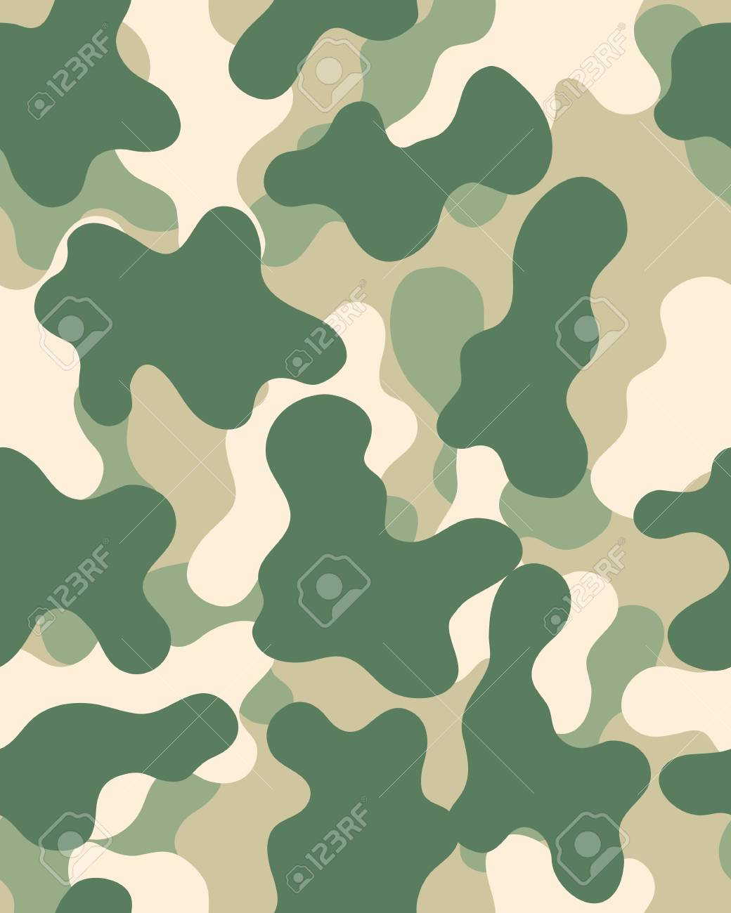 Camouflage Pattern Seamless Army Wallpaper Military Design Abstract