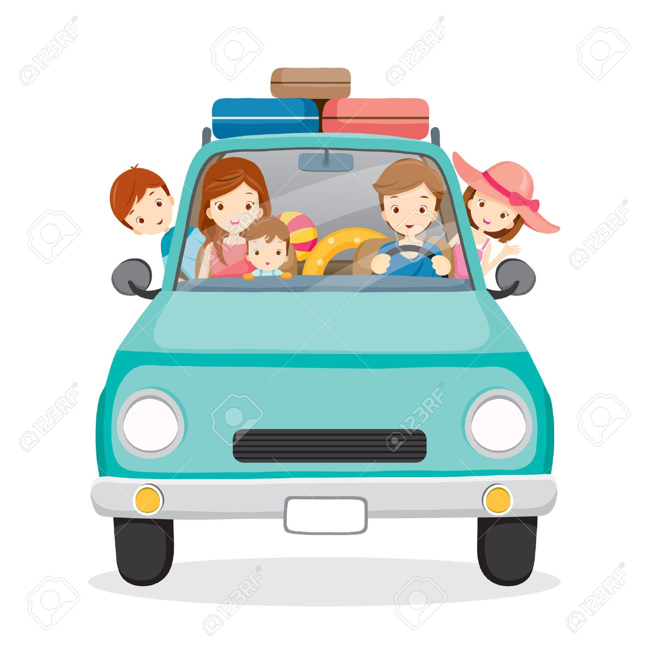 Family on Car Driving to Travel, Vacations, Holiday, Travel Destination, Journey Trips, Transportation - 54343465