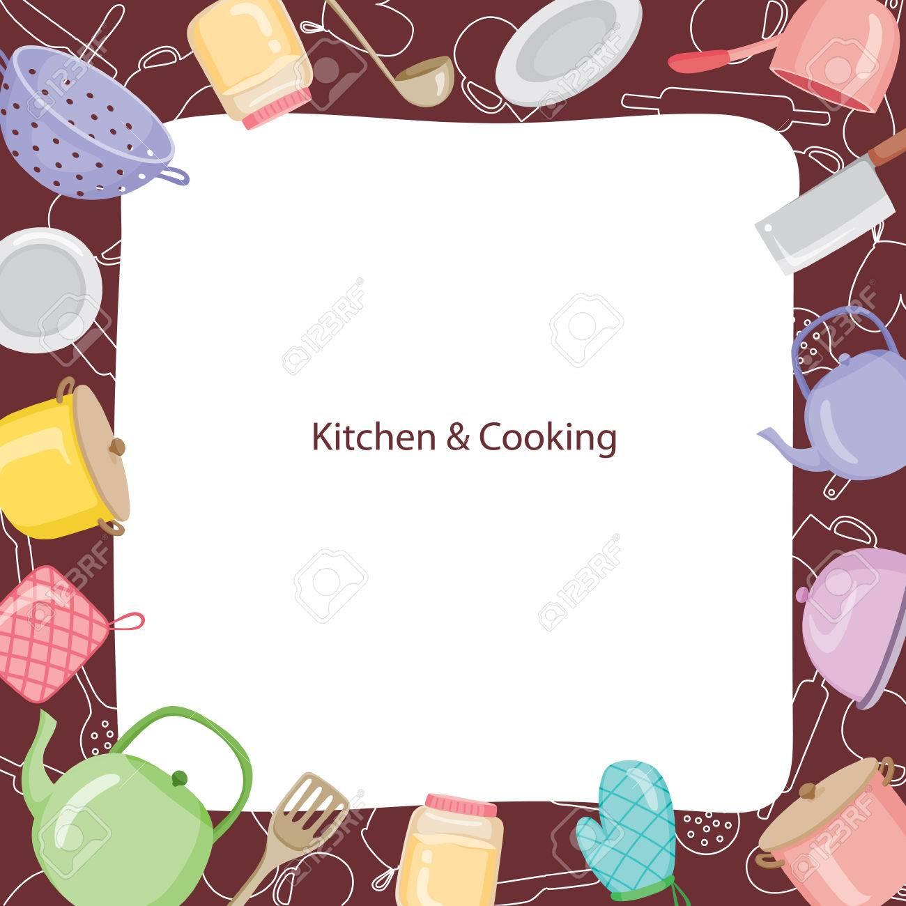 Gentil Kitchen Equipment Border, Kitchen, Kitchenware, Crockery, Cooking, Food,  Bakery,