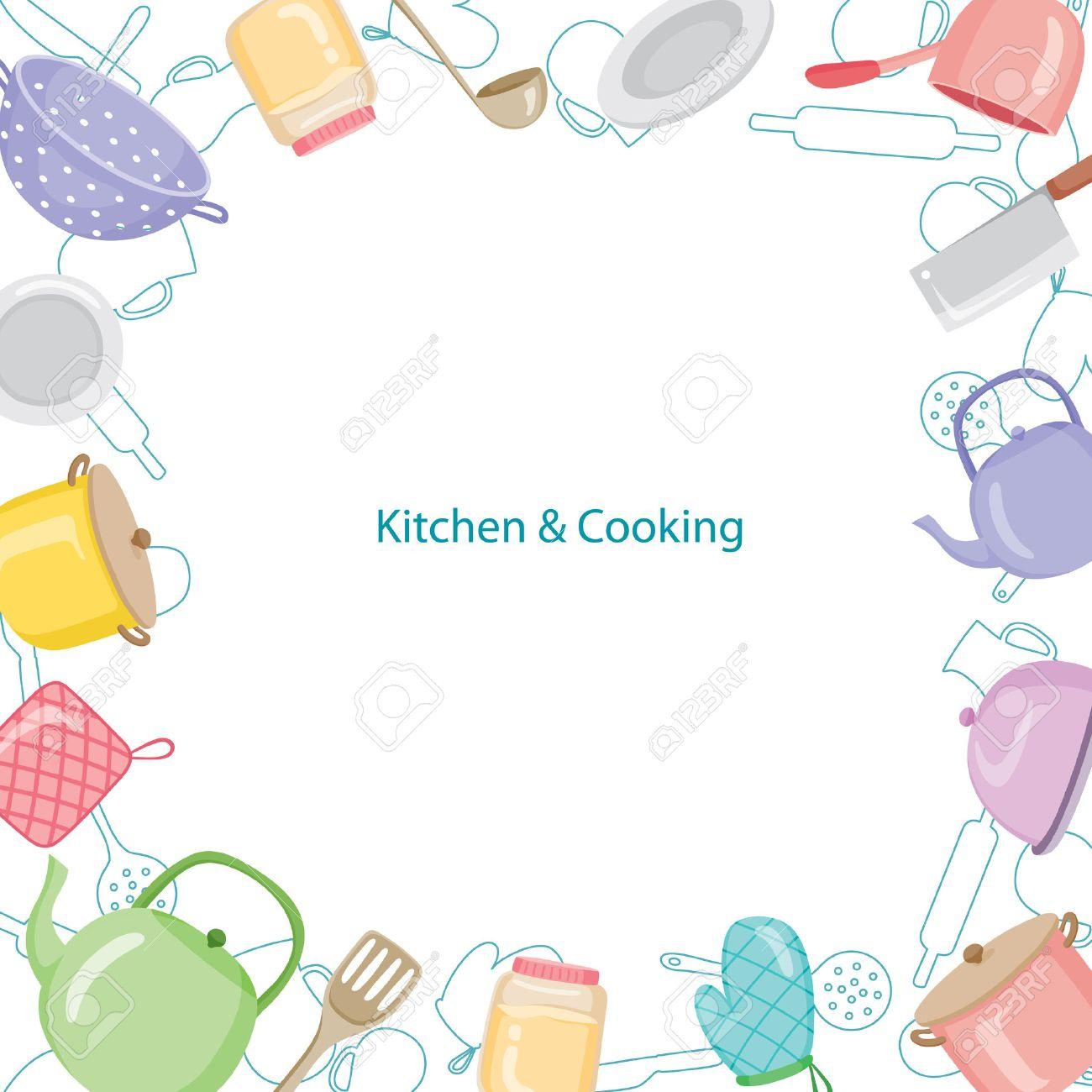 Kitchen Equipment Border, Kitchen, Kitchenware, Crockery, Cooking, Food, Bakery, Lifestyle - 54343671