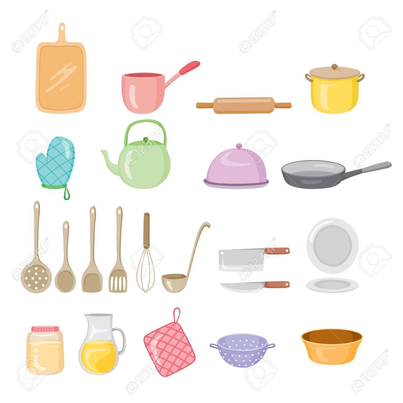 Kuchengerate Icons Set Kuche Kuchenutensilien Geschirr Kochen Lebensmittel Backerei Lifestyle Lizenzfrei Nutzbare Vektorgrafiken Clip Arts Illustrationen Image 54343677
