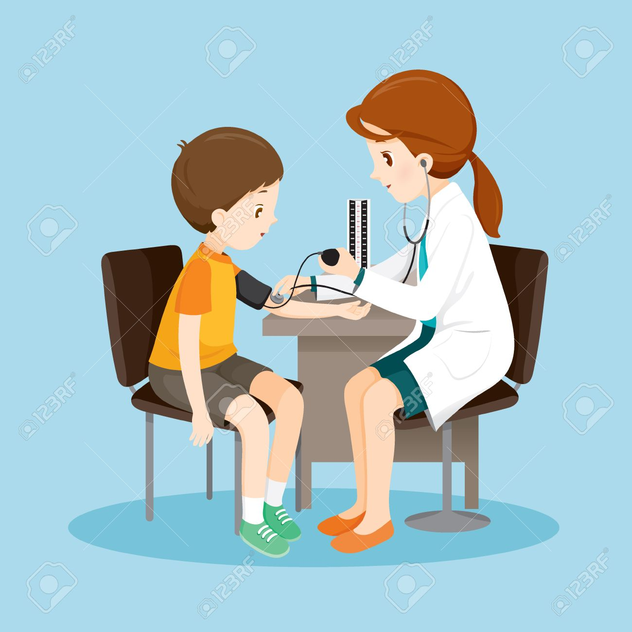 Woman Doctor And Patient Blood Pressure Measuring, Medical, Physician, Hospital, Checkup, Patient, Healthy, Treatment, Personnel - 60339364