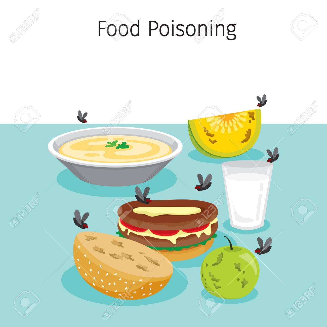 Muchas Moscas Volando Alimentos, Bebidas Y Frutas, Estómago, Órganos ...