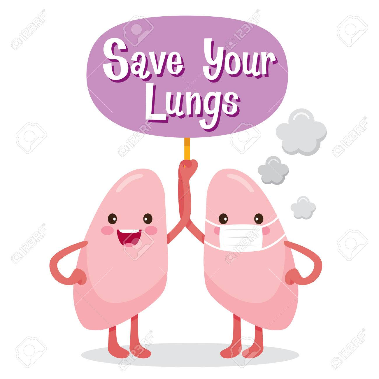 lungs human internal organ cartoon character physiology