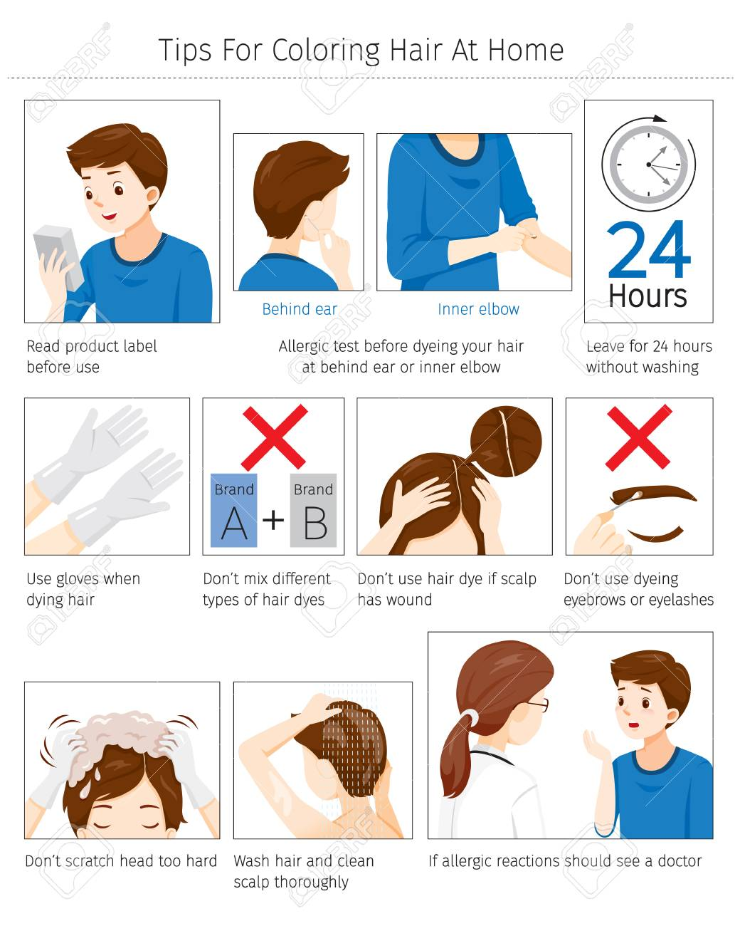 Tips And Precautions Before Use Hair Dye For Coloring Own Hair..