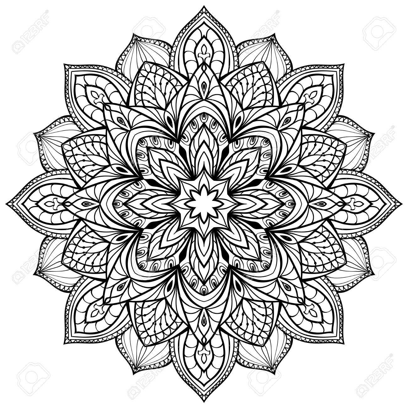Vector Graphic Mandala Isolated On White Background The Stylized