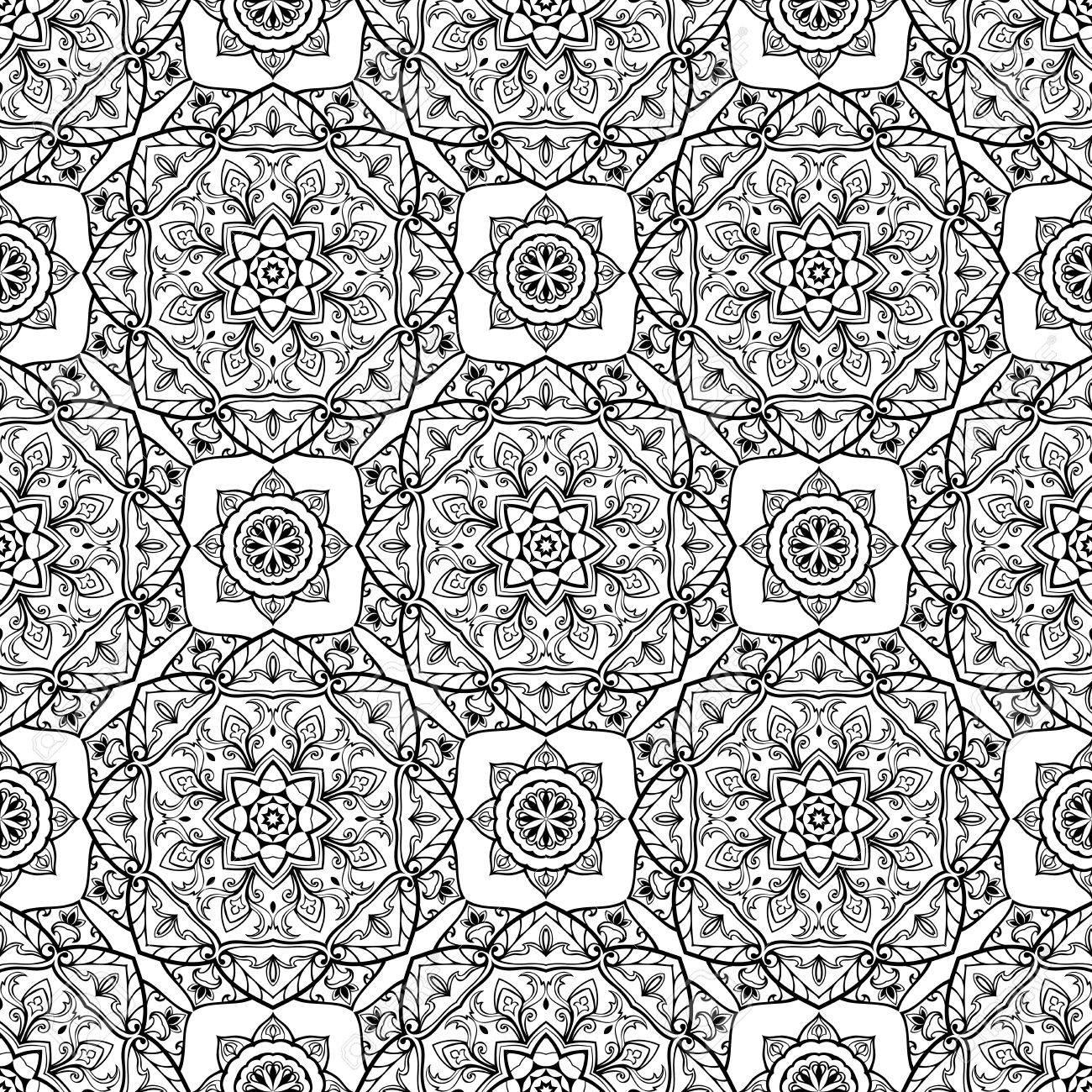 Ornamento Medieval Estilizado. Patrón De Vector Transparente ...