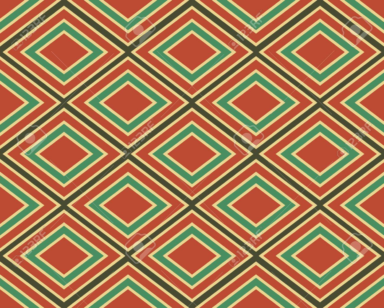 Jahrgang Geometrischen Muster Aus Rauten Vector Nahtlose Ornament