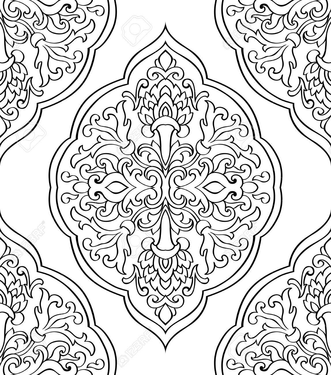 arabische ornamente malvorlagen  Coloring and Malvorlagan