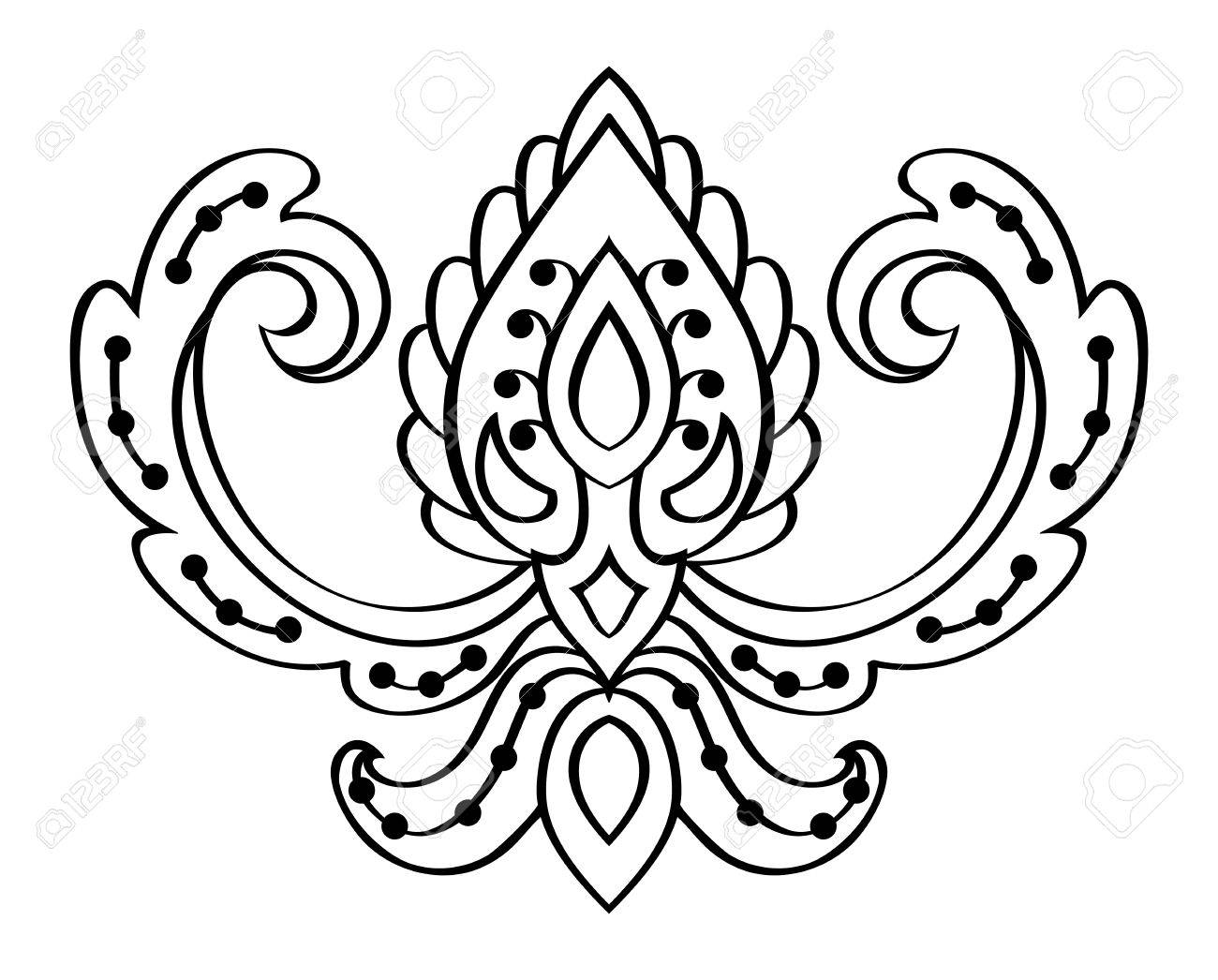 vector abstract pattern on a white background element for design