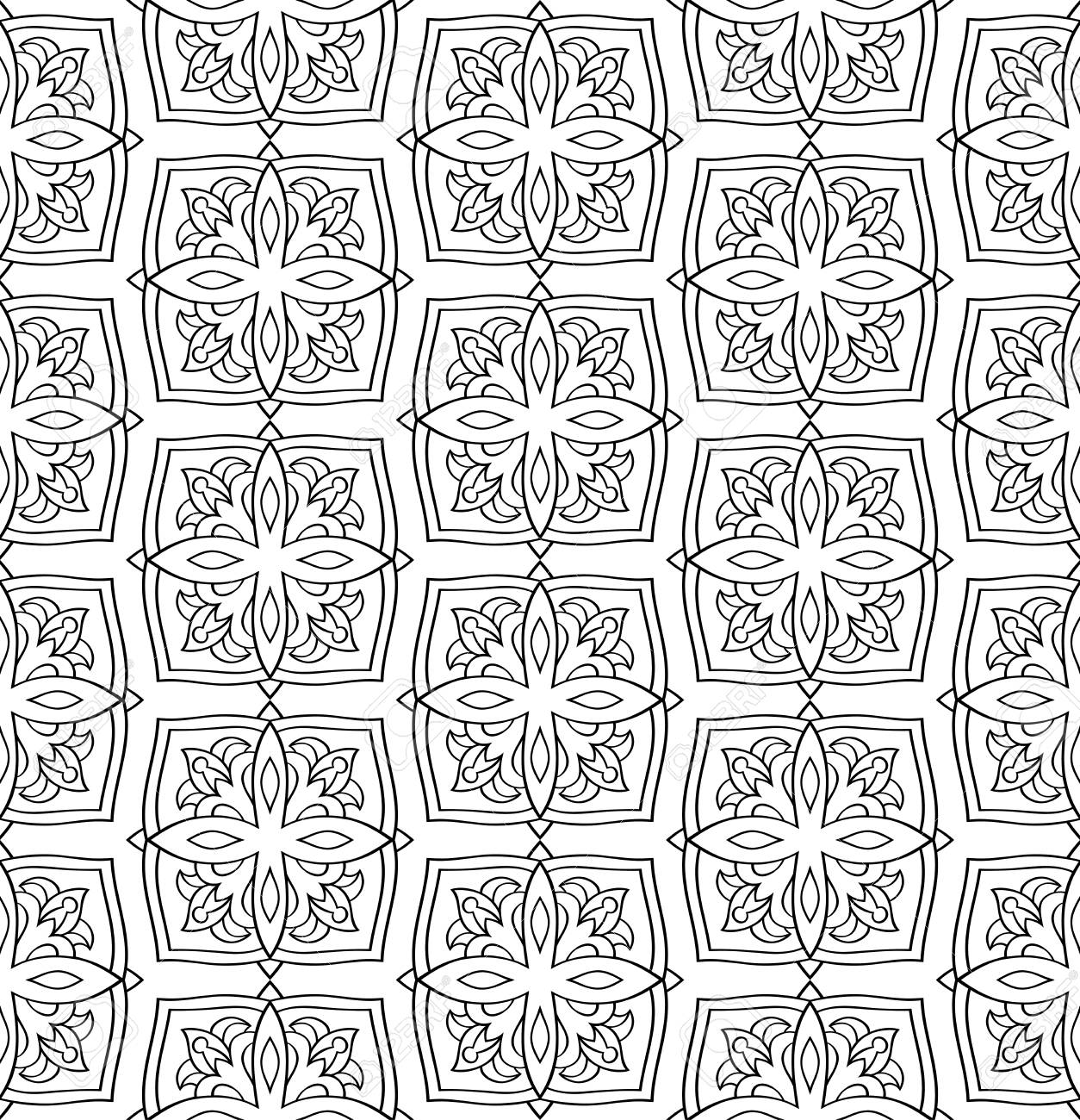 Oriental Seamless Simple Pattern Black And White Background Royalty Free Cliparts Vectors And Stock Illustration Image 65430403