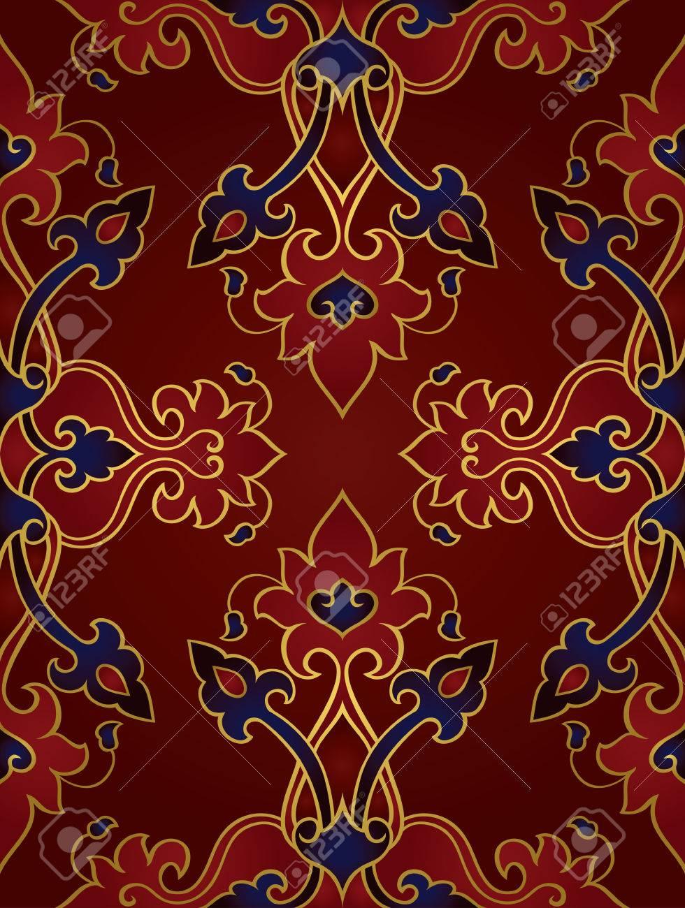 Oriental Ornement Abstrait Modele Pour Les Tapis Papier Peint