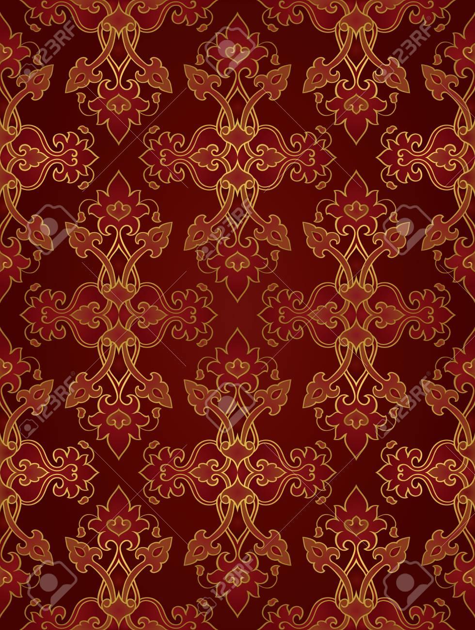 Oriental Abstrakten Ornament Vorlage Fur Teppich Tapete Textil
