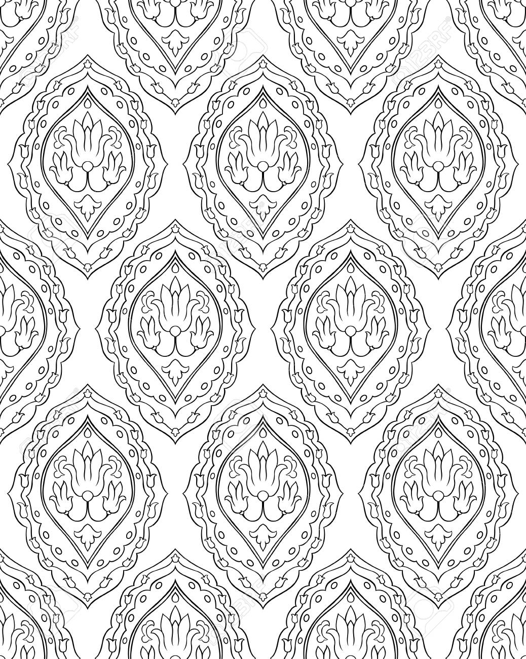 Abstract Vector Ornament Simple Template For Carpet Wallpaper Royalty Free Cliparts Vectors And Stock Illustration Image 79934800