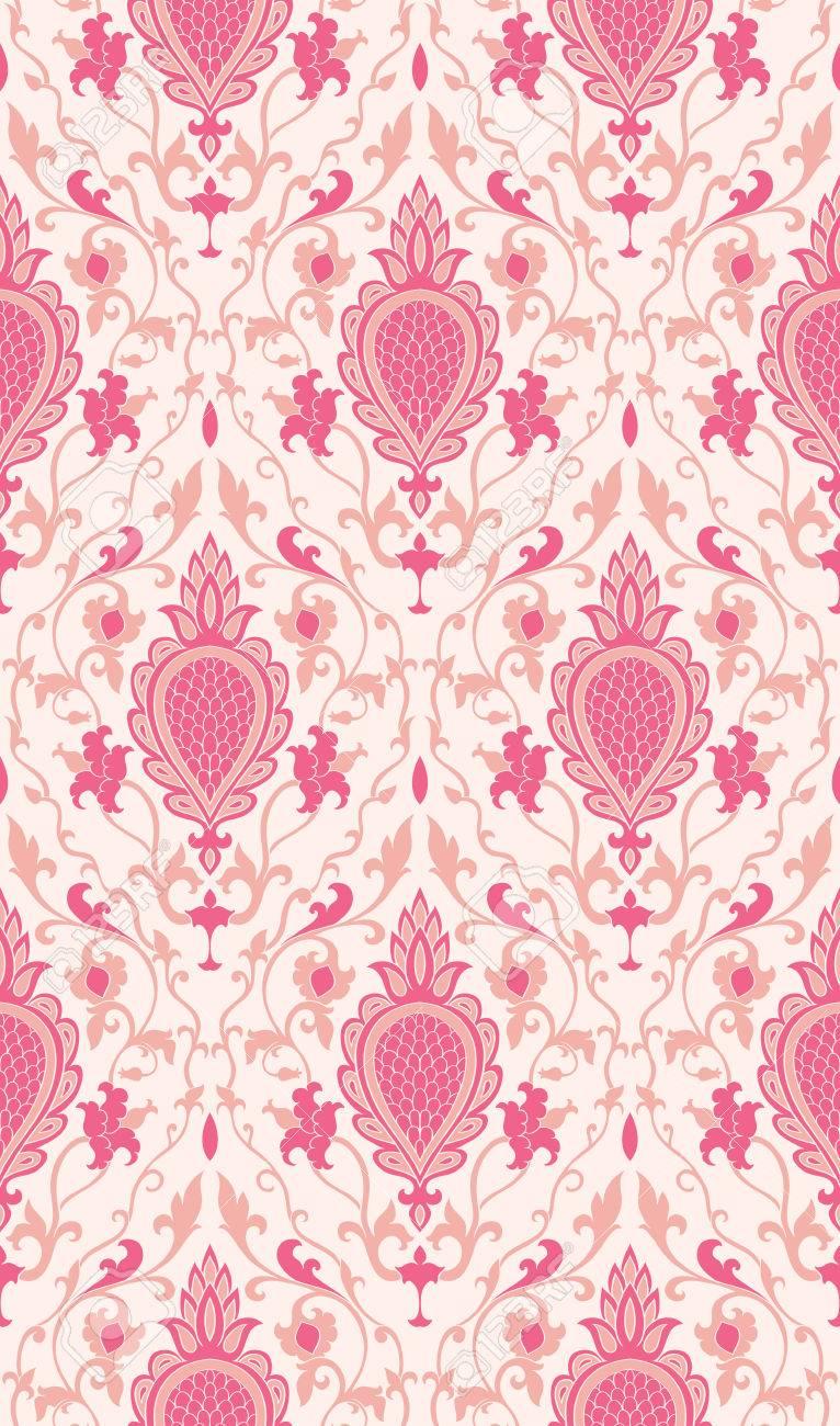 muster mit damast rosa filigrane verzierung elegante vorlage fr tapeten textil schal - Schal Muster