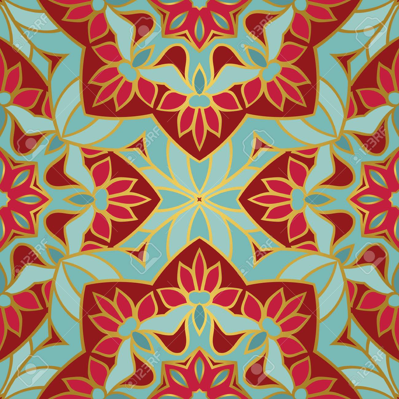 b24398257e77 Vector eastern background. Oriental ethnic ornament. Template for textile