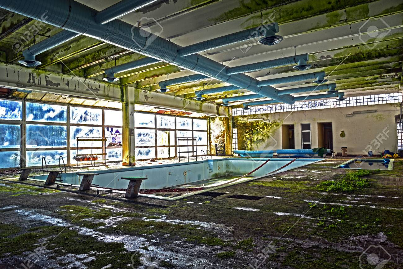 Old Abandoned Swimming Pool In Hdr Stock Photo Picture And Royalty Free Image Image 38361532