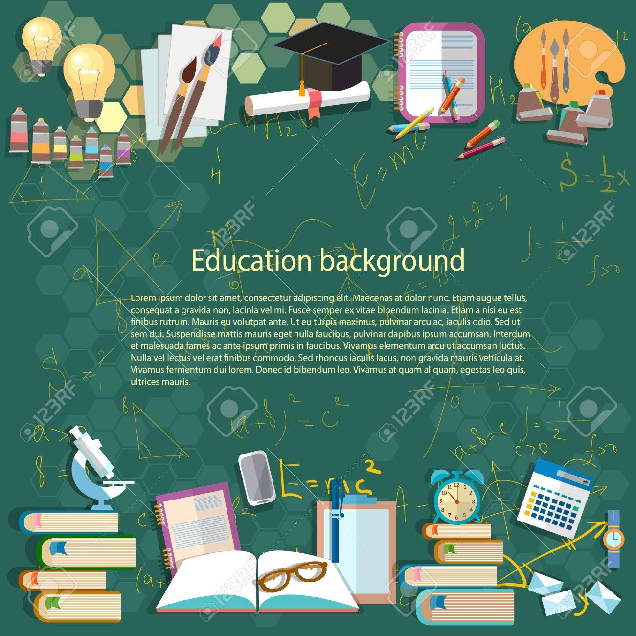 Education Background: Math Formula Algebra Geometry Thinking ...