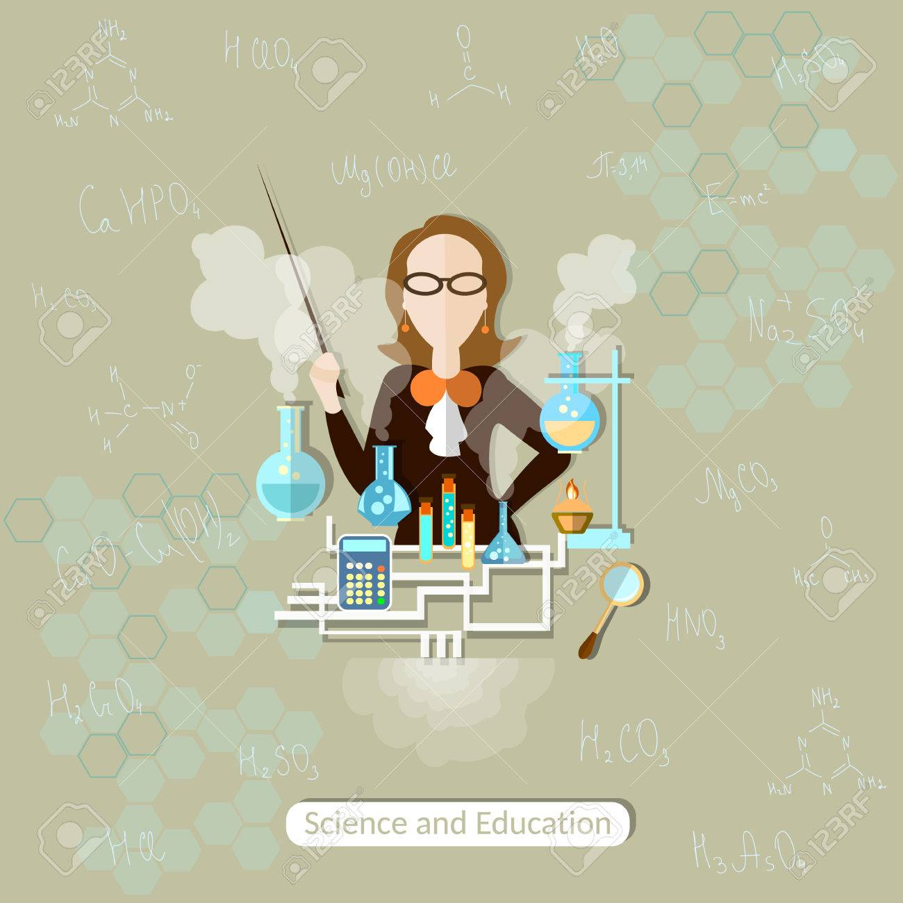 Science And Education Chemistry Teacher, Lessons, Woman, School ...