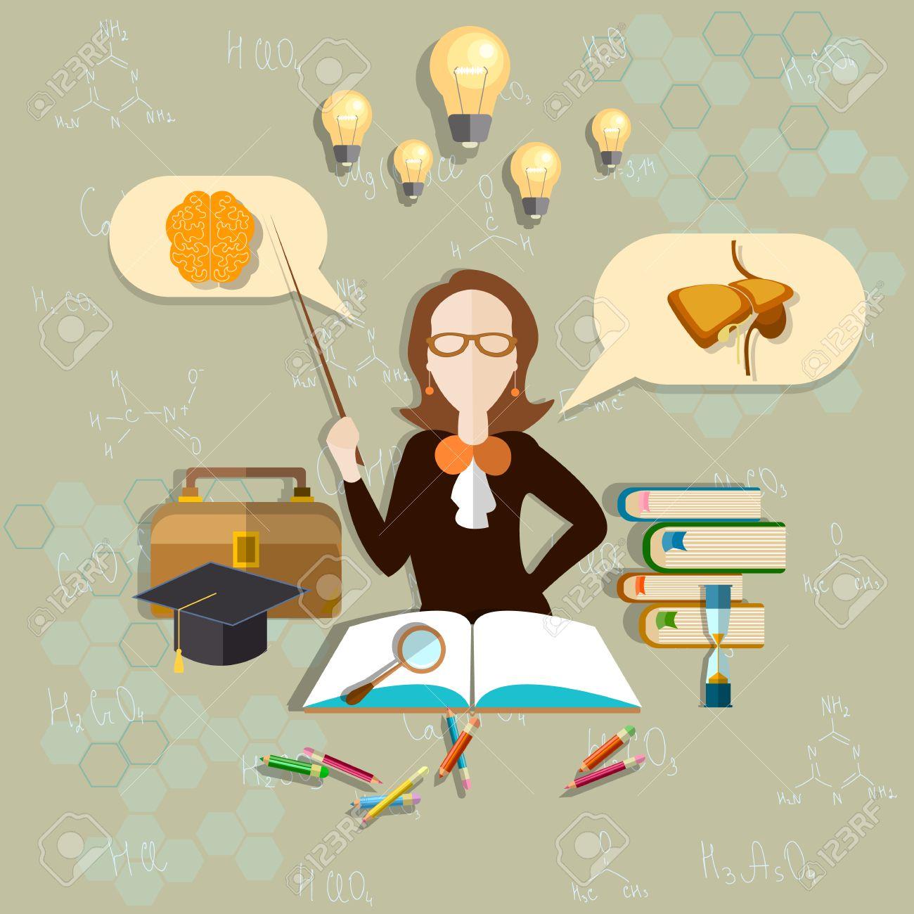 Bildung Und Wissenschaft Lehrer Für Biologie, Anatomie Lehrer, Frau ...