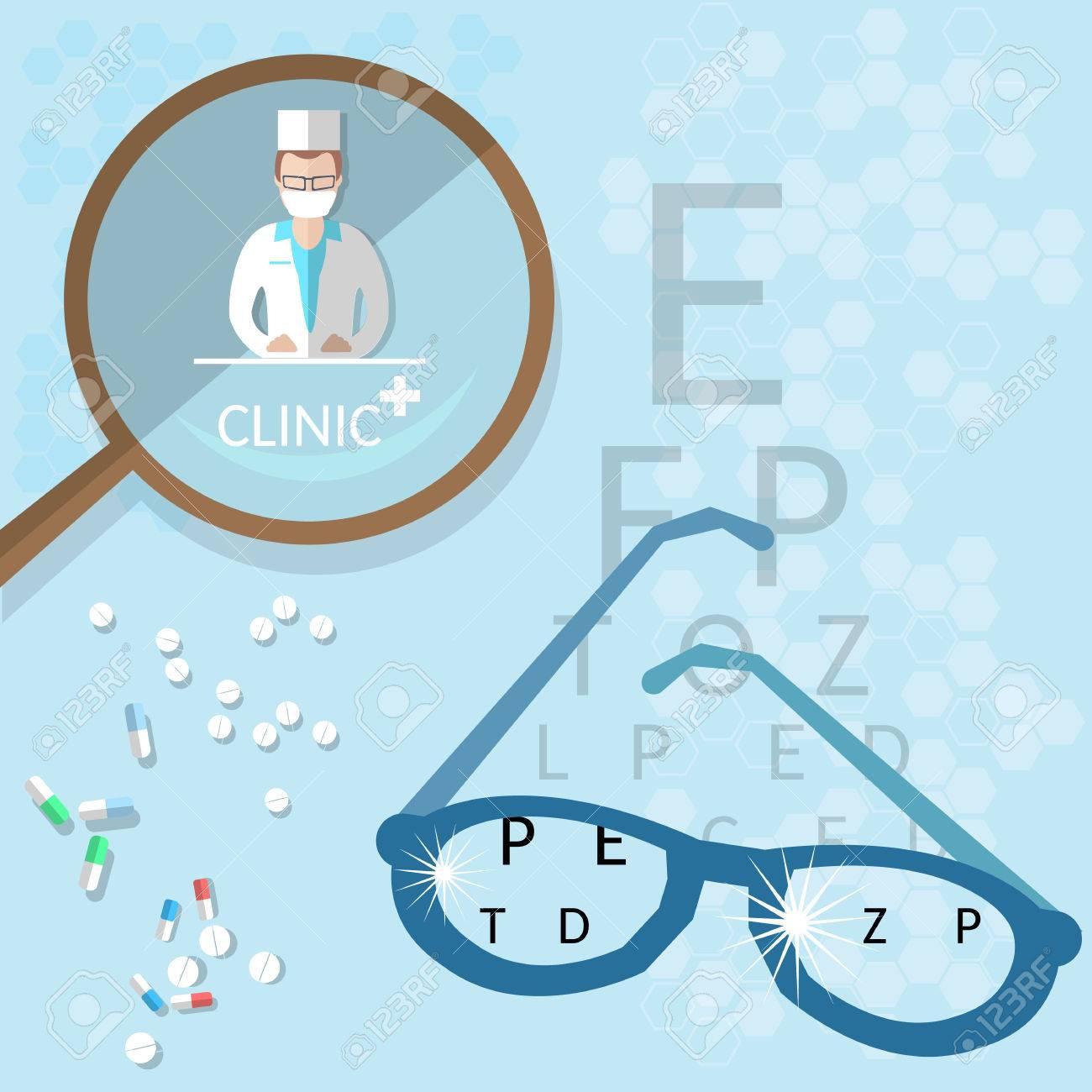Oculist medical ophthalmologist doctor diagnostics eyeglasses