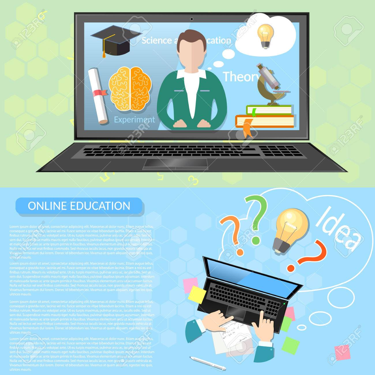 Online Education Distance Learning Student University Virtual Royalty Free Cliparts Vectors And Stock Illustration Image 47494317