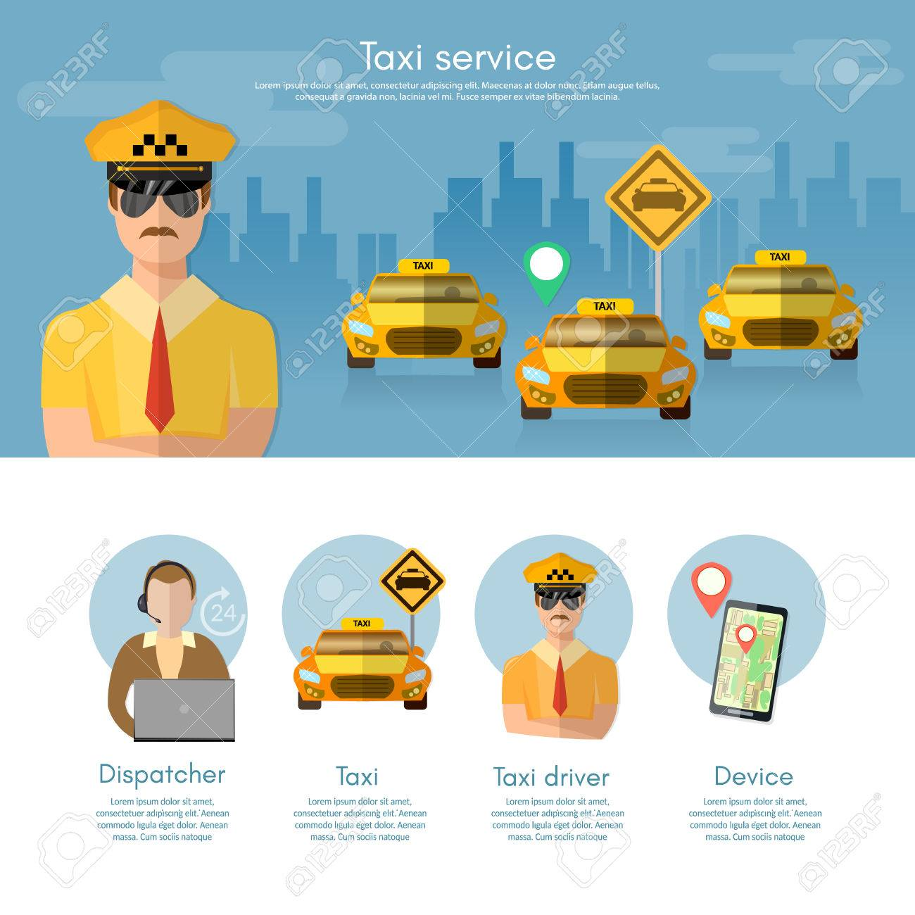Taxi Service Banner Taxi Call Book A Taxi To The City Dispatcher ...