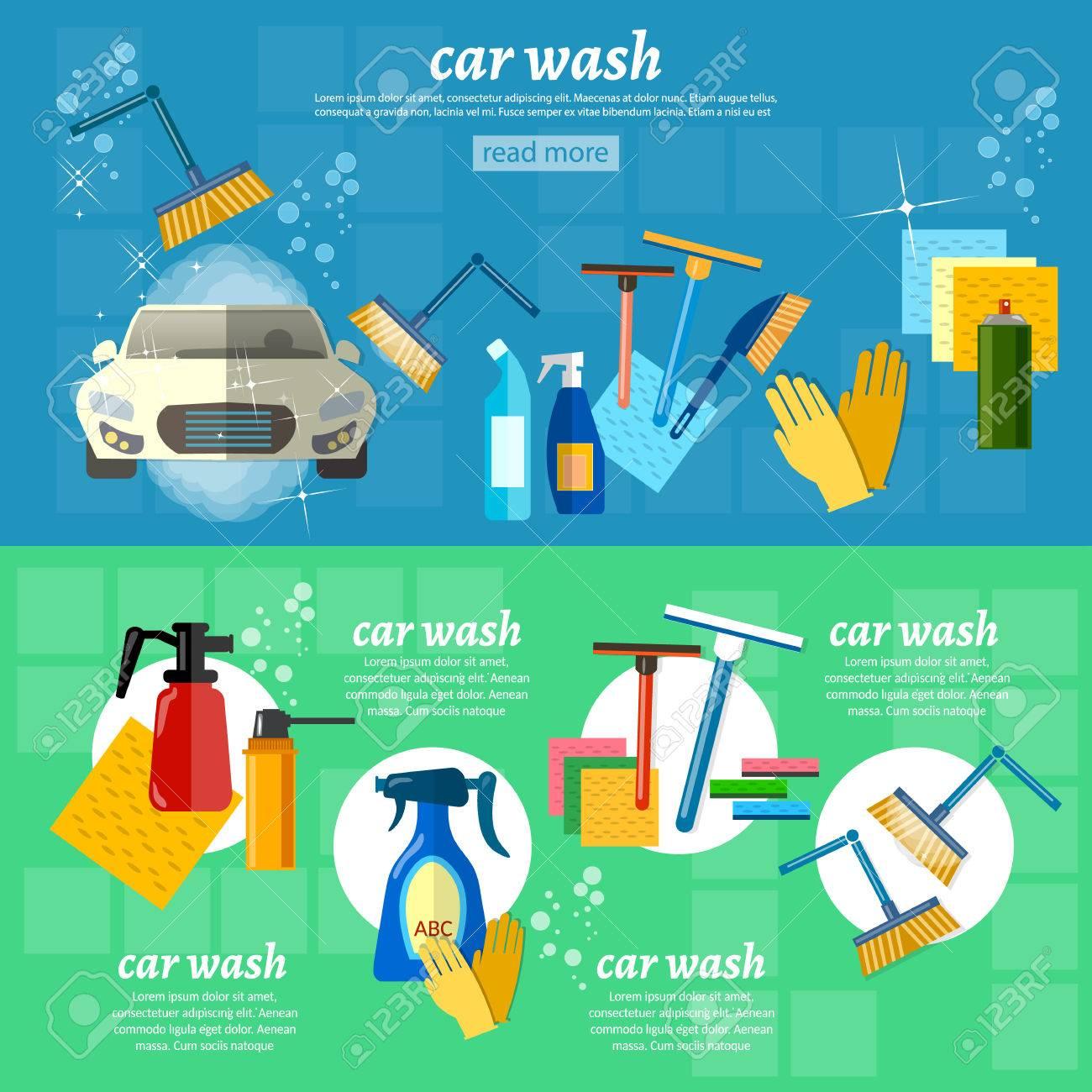Entretien Machine A Laver lavage de voitures voiture machine à laver automatique entretien automobile  illustration vectorielle