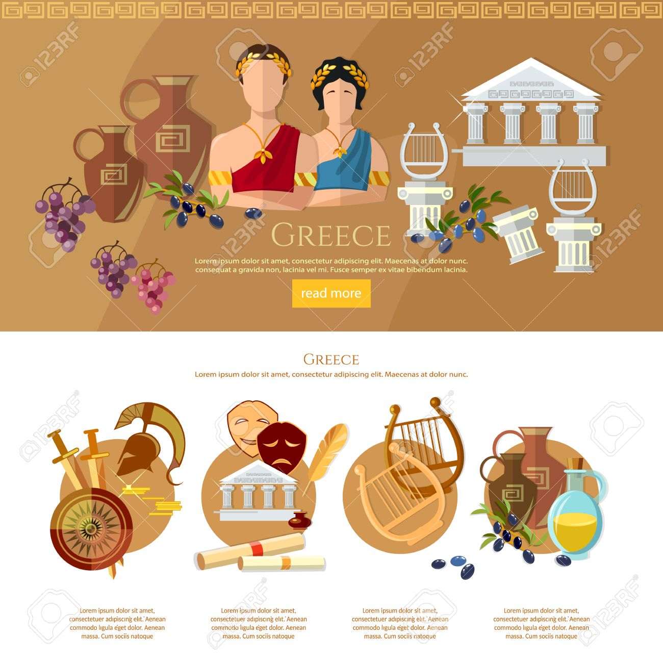 ancient greece and ancient rome infographics tradition and culture