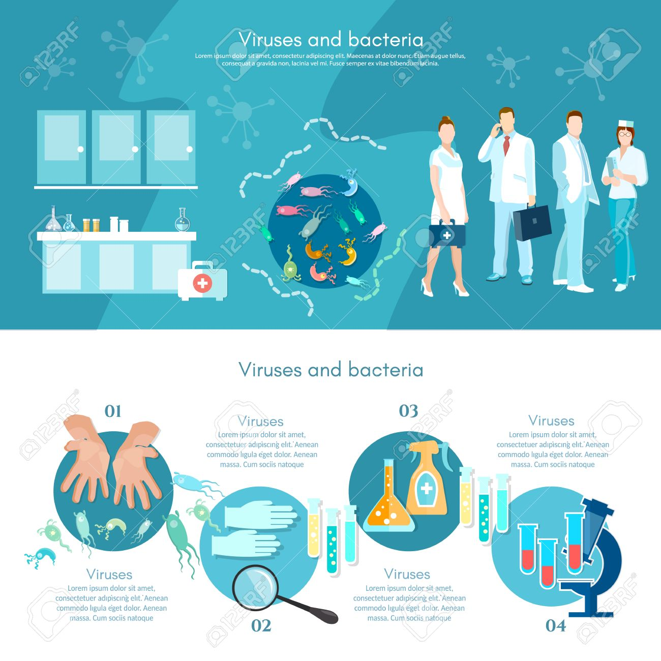 medical analysis microbiology infographics medical research rh 123rf com Medical Symbol Vector Medical Icon