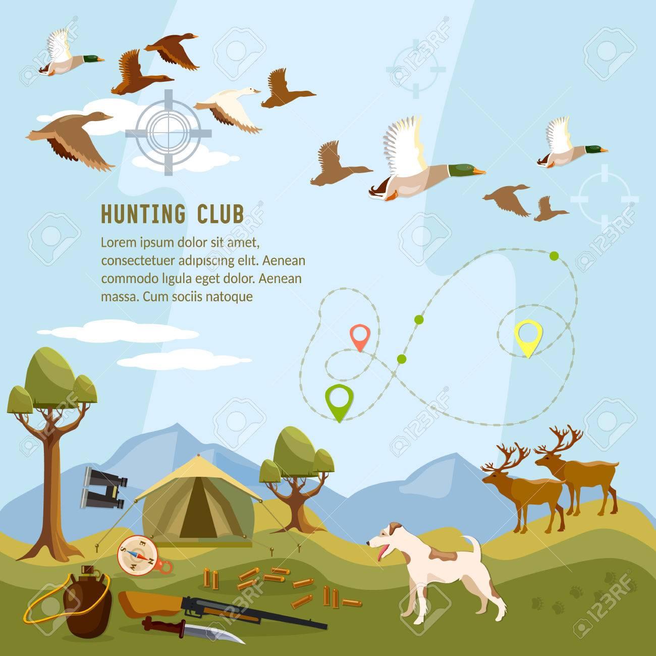 La Caza De Fondo, Volando Pato, Ciervos En La Montaña, Escopeta ...